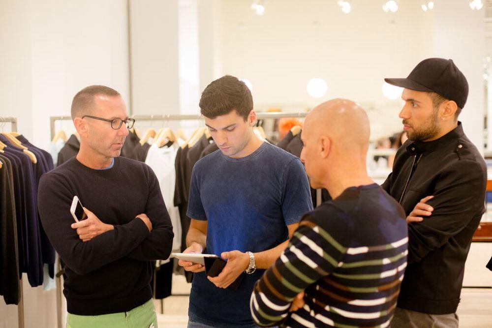 Jeffrey Kalinsky and his NYC team. Jeffrey Fashion Cares Atlanta.