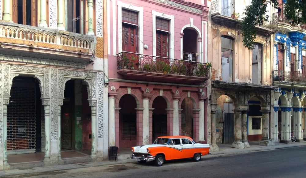 Street view from El Paseo del Prado in Old Havana. I took this photo during my July 2015 visit.
