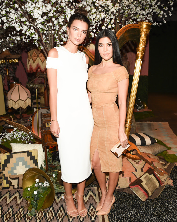 Emily Ratajkowski & Kourtney Kardashian