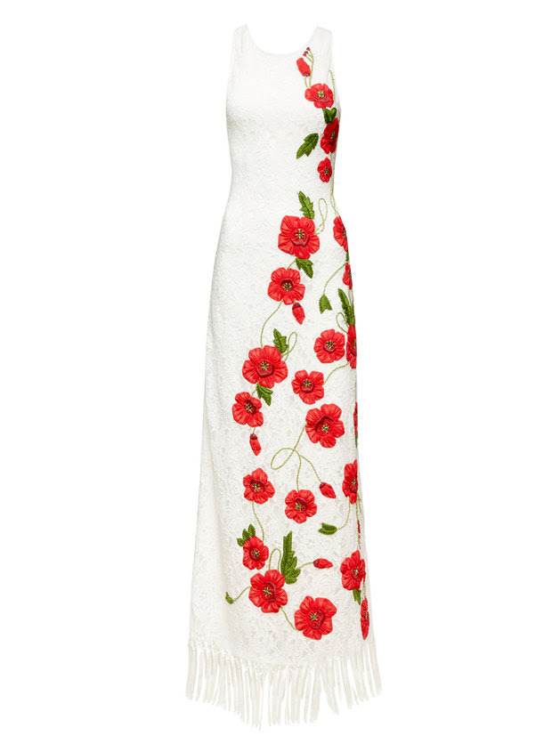 BONNY FLORAL EMBROIDERED GOWN