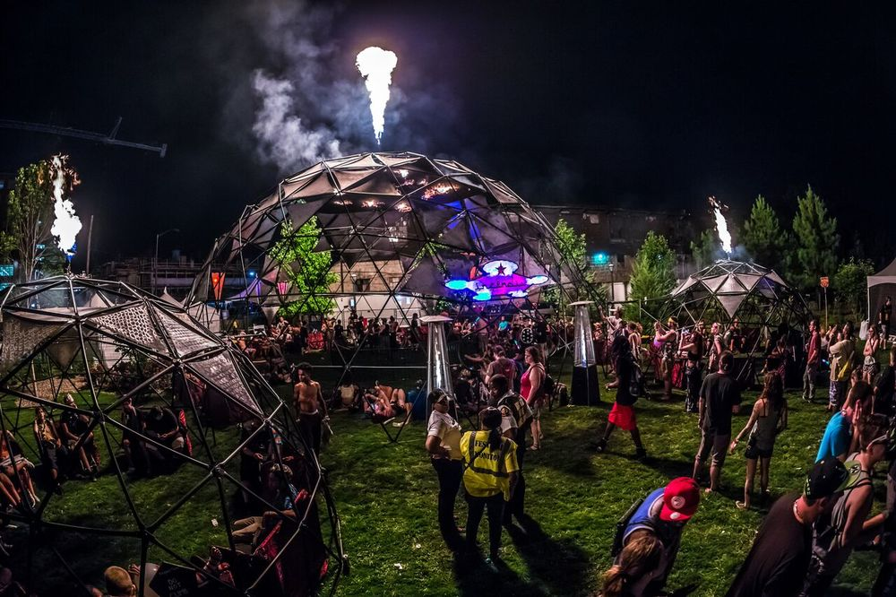 Imagine Music Festival at night