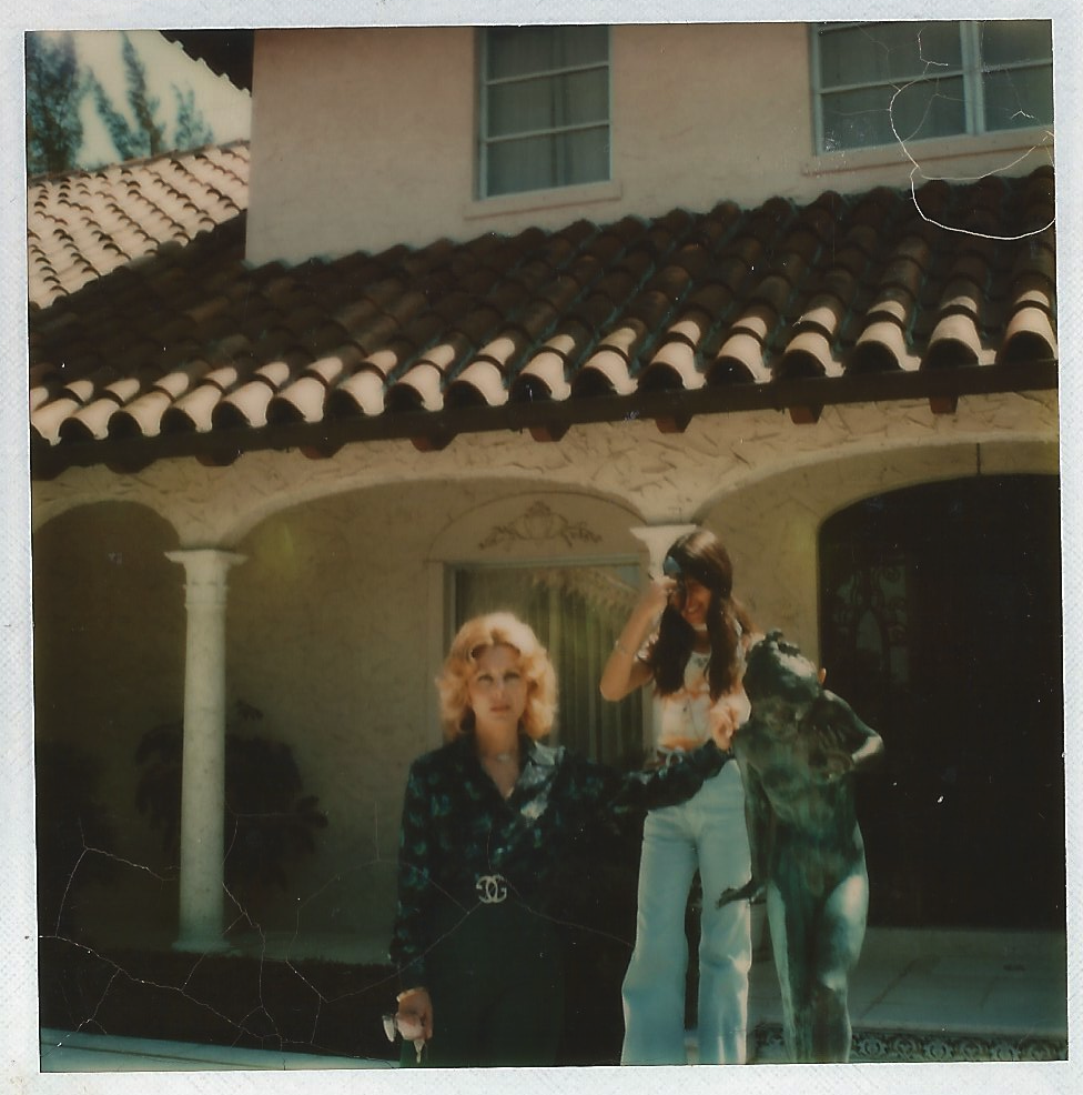 Mamma and me outside the house in Palm Beach, 1973 (Patricia Gucci)