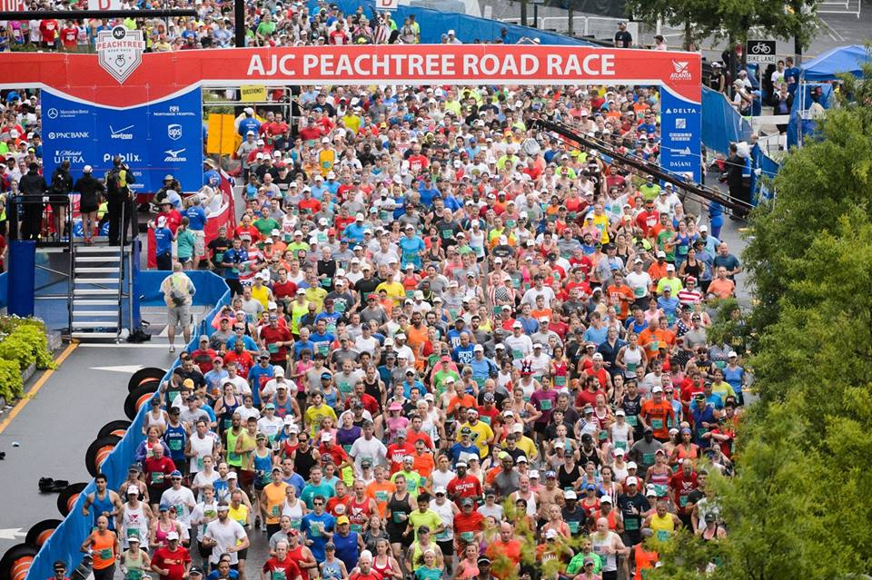 Peachtree Road Race July 4th 2016
