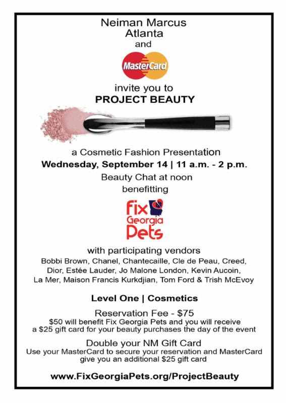 Neiman Marcus & MasterCard Project Beauty Event