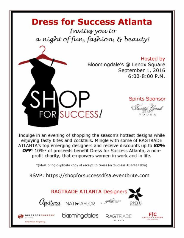 RAGTRADE ATLANTA to Co-Host 'Shop for Success' at Bloomingdale's Lenox