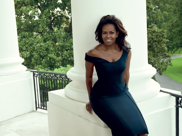 First Lady Michelle Obama in Atelier Versace at the White House. Annie Leibovitz/Vogue