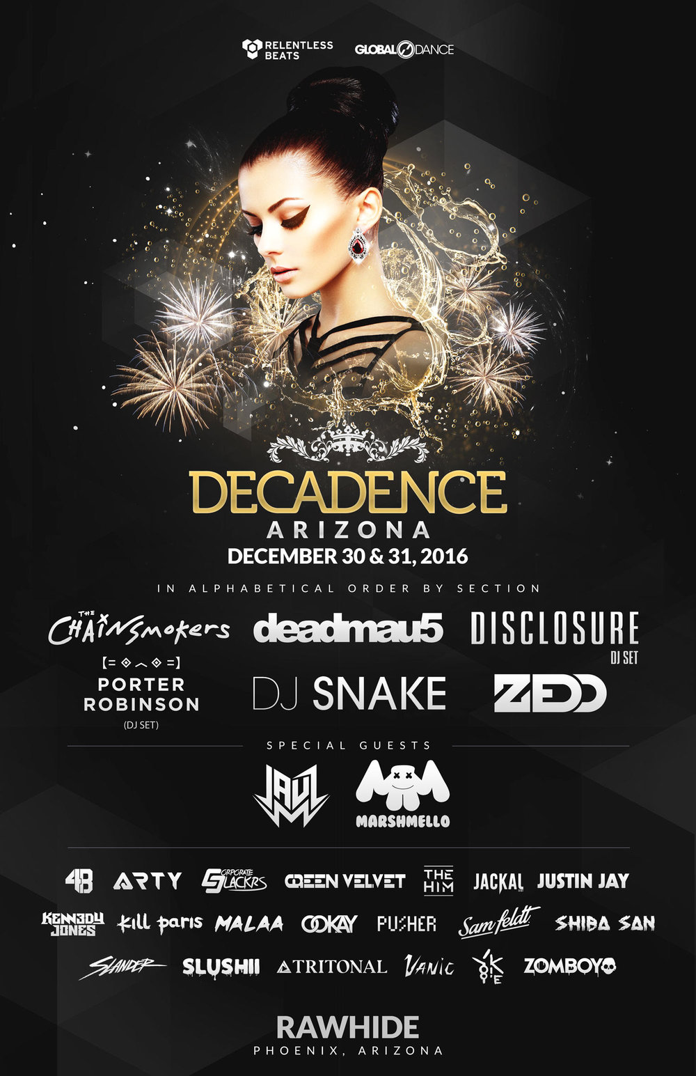 decadence music festival nye
