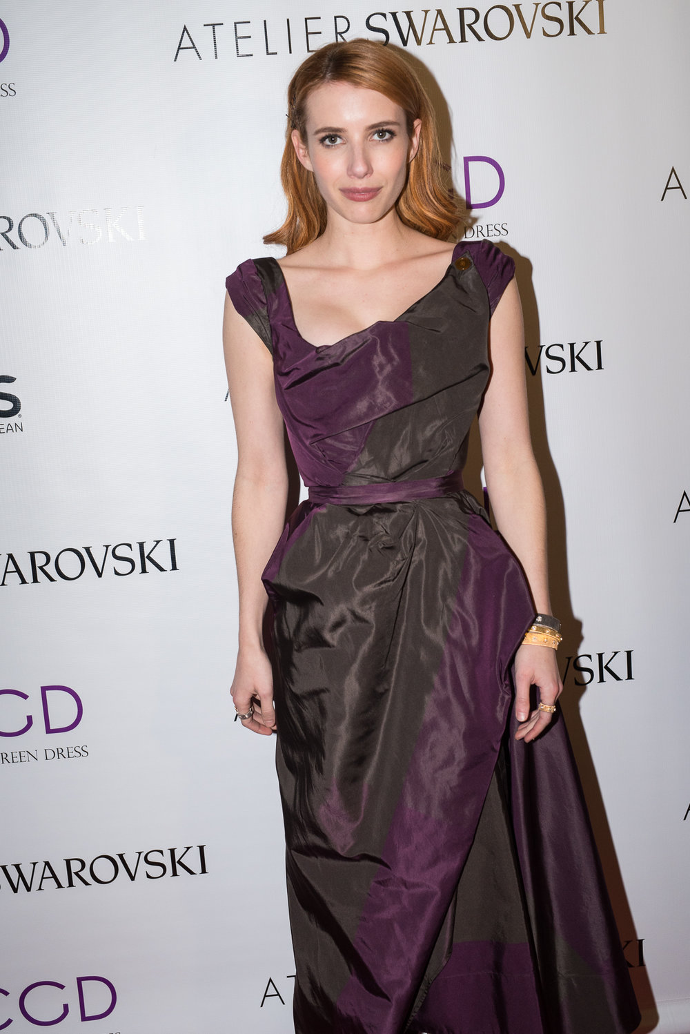 """""""Scream Queens"""" Emma Roberts Attends at Red Carpet Green Dress in Partnership with Atelier Swarovski 8th Annual Pre-Oscar Celebration as a celebrity partner for the 2017 initiative."""