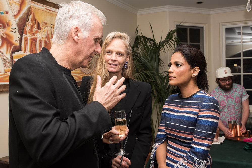 James Cameron, Suzy Amis Cameron and Priyanka Bose.