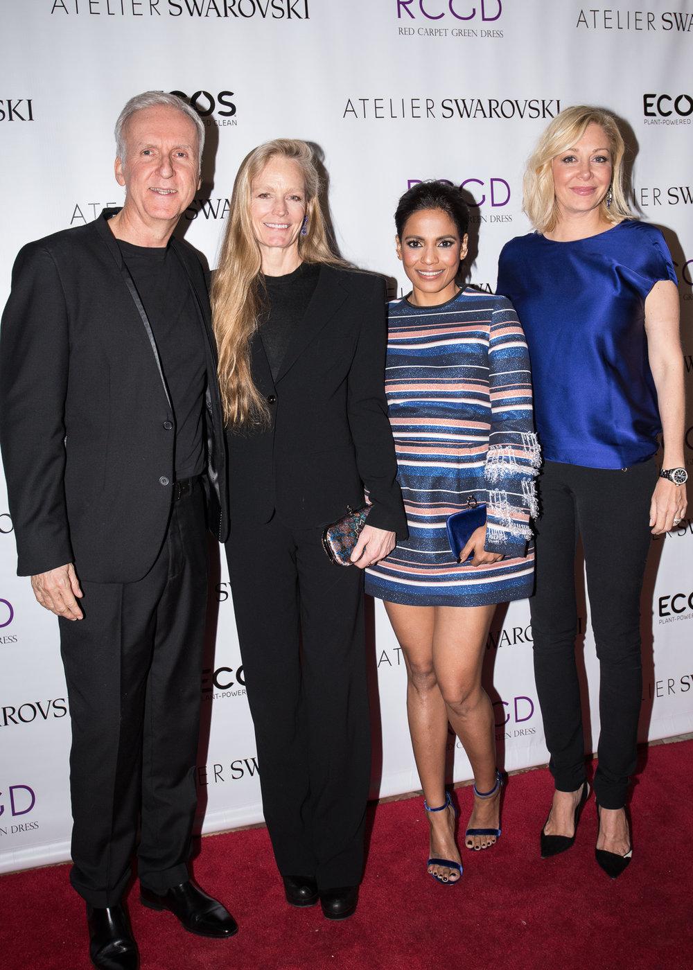 James Cameron, Suzy Amis Cameron, Priyanka Bose and Nadja Swarovski.
