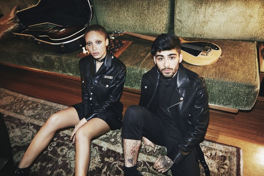 Zayn and Adwoa Aboah Versus Versace SS17