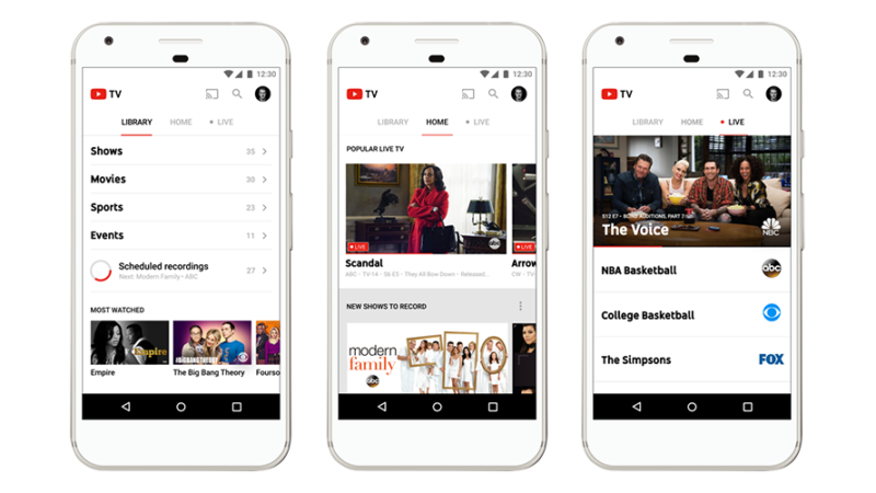 Watch Your Favorite Shows Live on YouTube TV