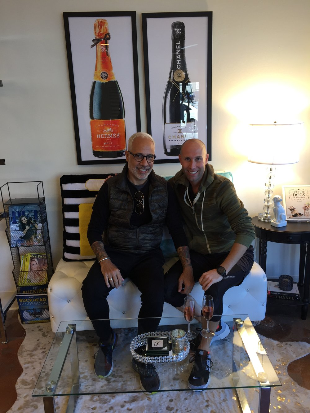 Alex Page and I shared a designer moment at Bark Fifth Ave.