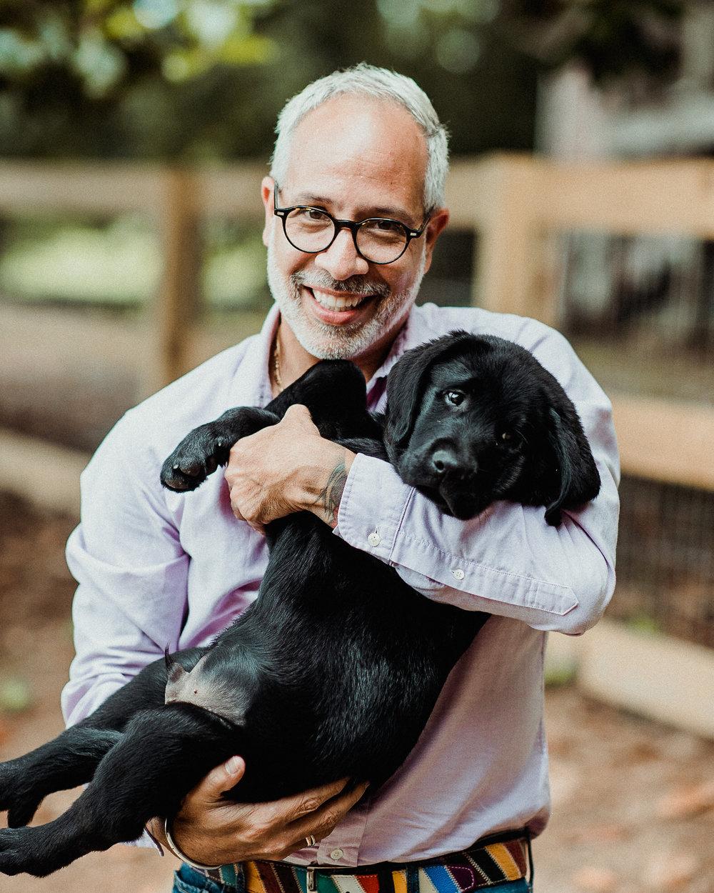 E. Vincent Martinez & puppy Vincent