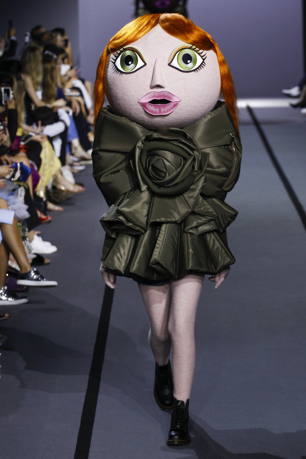 "The Viktor & Rolf mascots, ""are rooting for a world that is creative, diverse, and eco-conscious."" -"