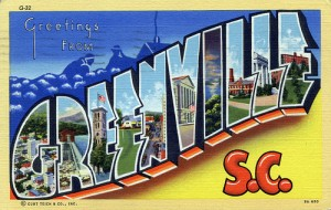 greenville post card