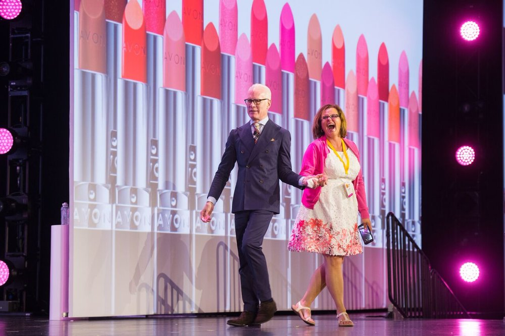Tim Gunn Surprises Over 6,000 Avon Beauty Bosses at the company's annual RepFest in Nashville. TN to Announce Avon as the Official Beauty Sponsor for Project Runway Season 16