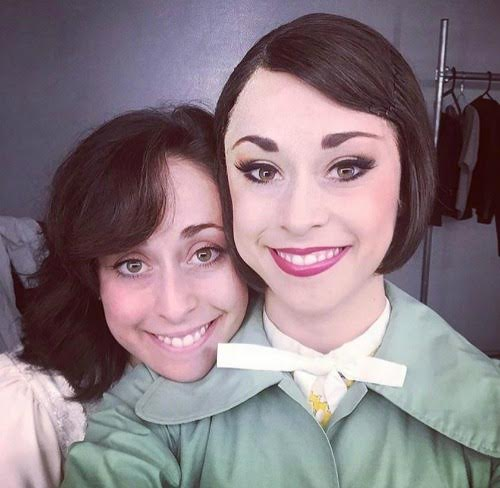 Best friends and sisters Leigh-Ann (left) and Sara Esty share the road and the role of Lise. Family photo