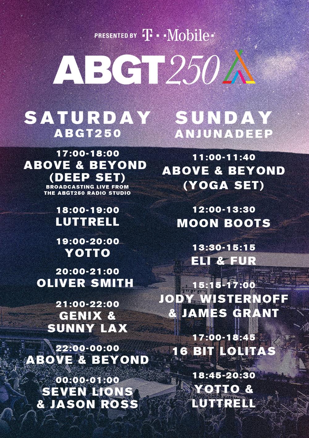 above & beyond abgt250