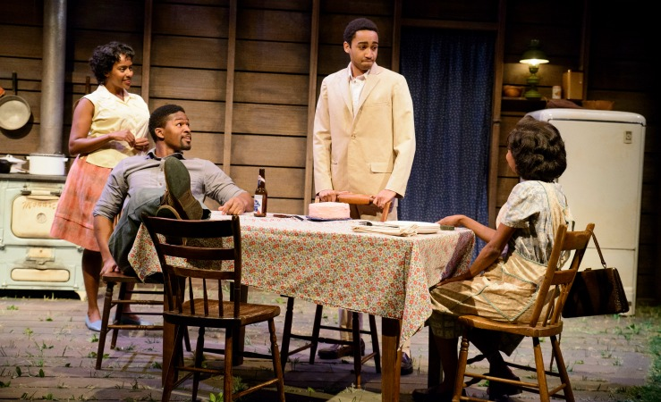 """The Alliance Theatre's """"Too Heavy for Your Pocket"""" is nominated for best world premiere. Its cast (from left) Eboni Flowers, Rob Demery, Stephen Ruffin and Markita Prescott. Photo: Greg Mooney"""