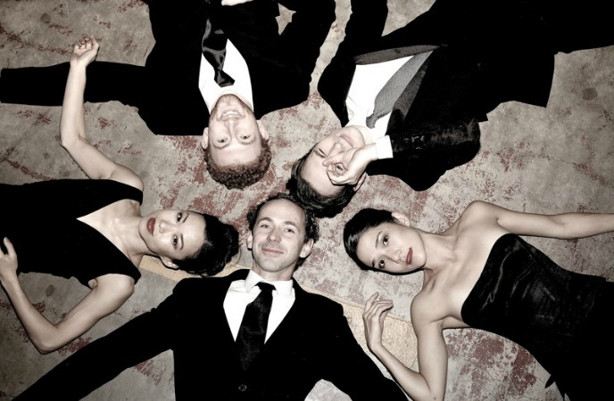 """Terminus Modern Ballet Theatre, the company formed by five ex-Atlanta Ballet principals, debuts this weekend. Last call for""""Boy"""" (Theatrical Outfit), """"The Christians"""" (Actor's Express) and """"Sense and Sensibility"""" (Synchronicity). Pictured, clockwise from bottom center: John Welker, Tara Lee, Heath Gill, Christian Clark and Rachel Van Buskirk. Photo courtesy of TMBT."""