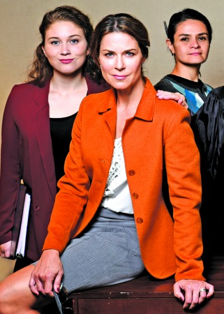 Brooke Owens (from left), Lane Carlock, Maria Rodriguez-Sager. Photo: Greg Mooney