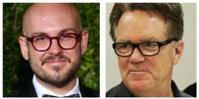 """Playwright Robert Askins (left) grew up in Cypress, Texas, where """"Hand to God"""" is set. Of the black comedy director Marc Masterson says, """"We're gonna play, we're gonna have fun, and we'll make this thing our own."""""""