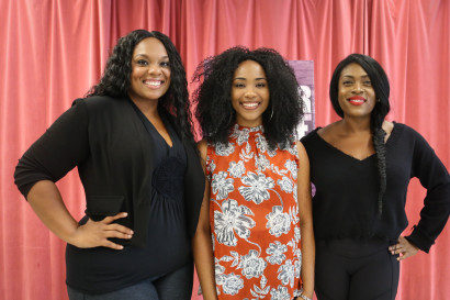 Carrie Compere (from left), Adrianna Hicks and Carla R. Stewart play Sofia, Celie and Shug Avery. Photo: Marc J. Franklin