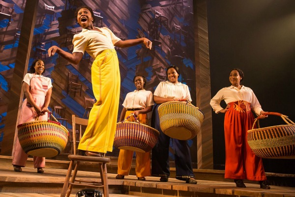 """A scene from the 2016 Broadway revival of """"The Color Purple,"""" with Tony Award winner Cynthia Erivo (in yellow pants). Photo: Matt Murphy"""