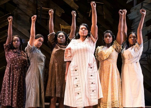 Carrie Compere (center, as Sofia) and company. Photo: Matt Murphy