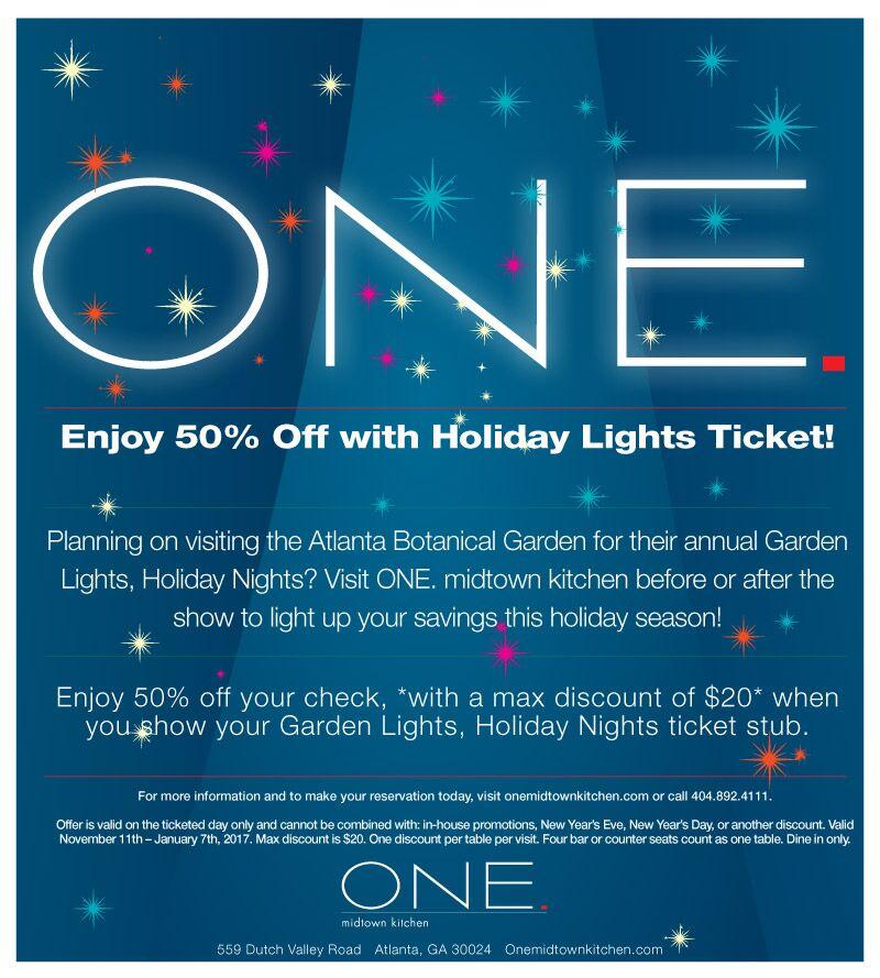 ONE Holiday Lights atlanta botanical
