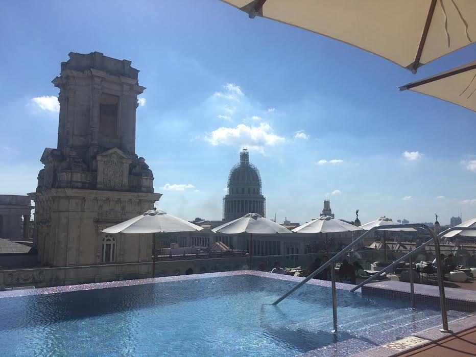 Rooftop pool,