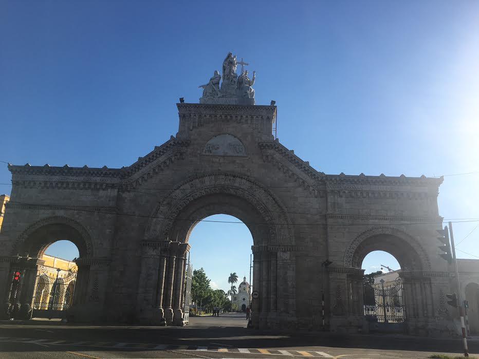 Entrance to the historic Colon Cemetery, Cuba.