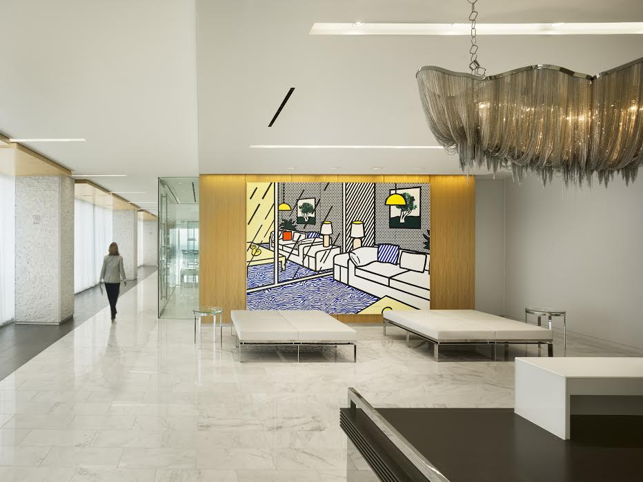 Greenberg Traurig's penthouse offices overlook Atlanta's best known financial and luxury shopping district , but they could pass for something out of The Museum of Modern Art in New York. - Atlanta Business Chronicle