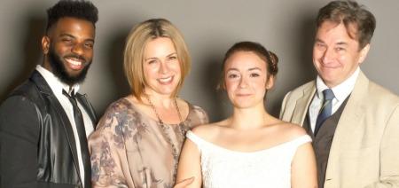 Terrance Smith (left), Tiffany Morgan, Rachel Wansker, Donald McNamus. Photo: Tyler Ogburn