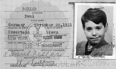 Each Jewish child rescued from Nazis in Vienna received a U.S. immigration card at the American Embassy in Berlin. Photo: U.S. Holocaust Memorial Museum