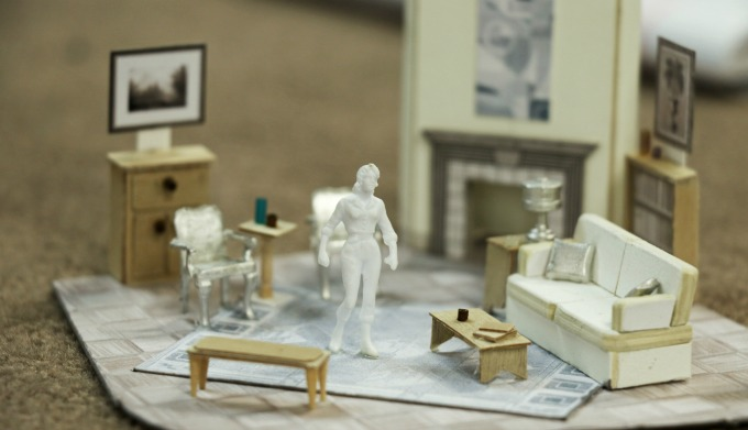 """Designer Jack Magaw's set model for the Kirsch home in """"Sheltered."""" Photo: A'riel Tinter."""