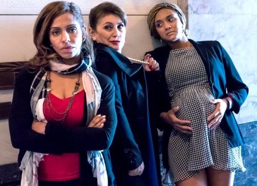 Joselin Reyes (from left), Irma Cristancho, Limara Meneses Jimenez Photo: Up the Hill Productions