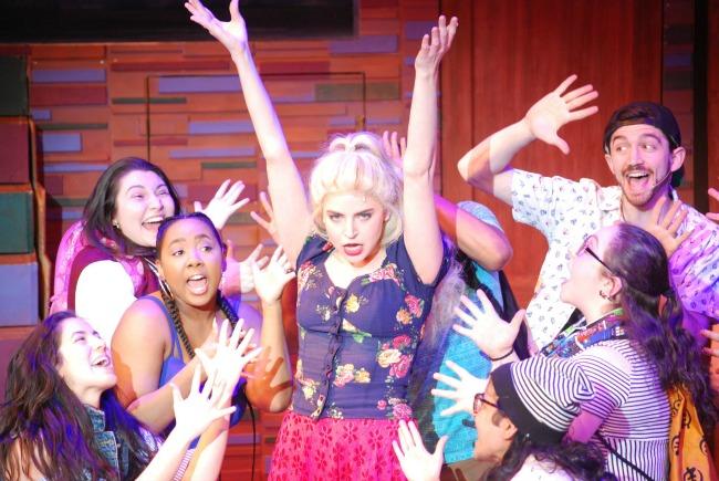 """Randi Garza (center) and the """"Freaky Friday"""" ensemble. Photo: Greg Mooney"""