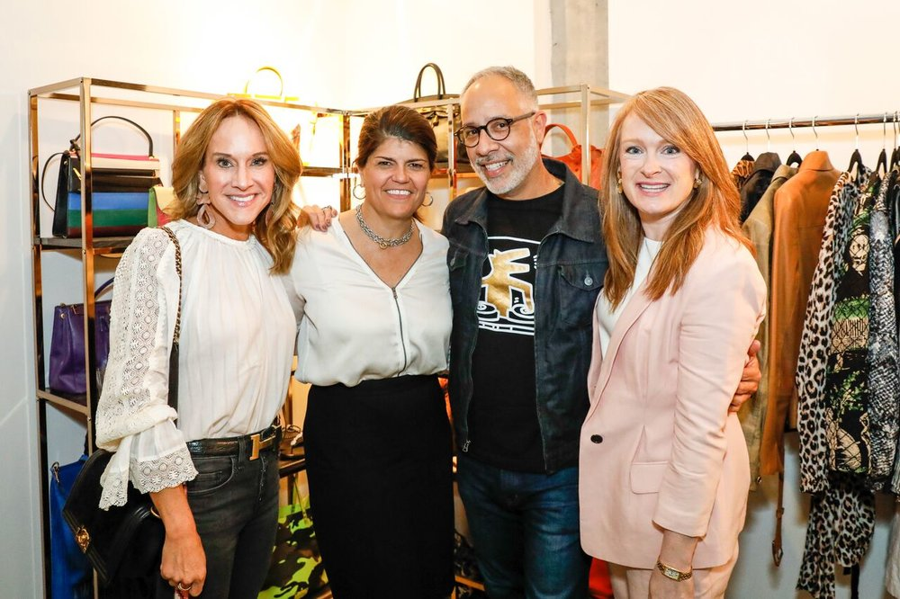 (l-r) Vickie Kirbo kirbyourstyle.com, LGS CEO Trish Lukasik, E. Vincent Martinez, Ashley Stamoulis suthingirl.com
