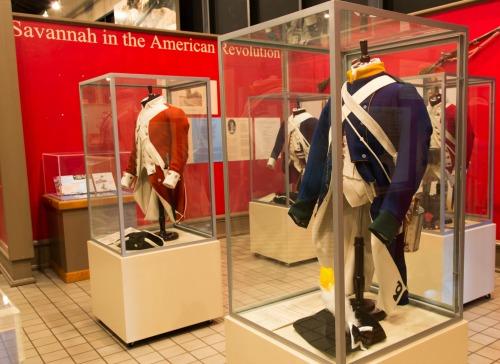 REVOLUTIONARY WAR: Artifacts at the Savannah History Museum.