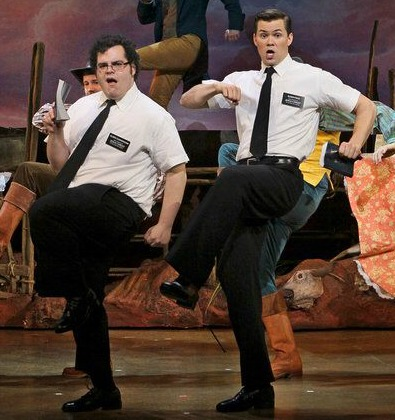 Josh Gad (left) and Andrew Rannells in the original Broadway cast. Photo: Joan Marcus