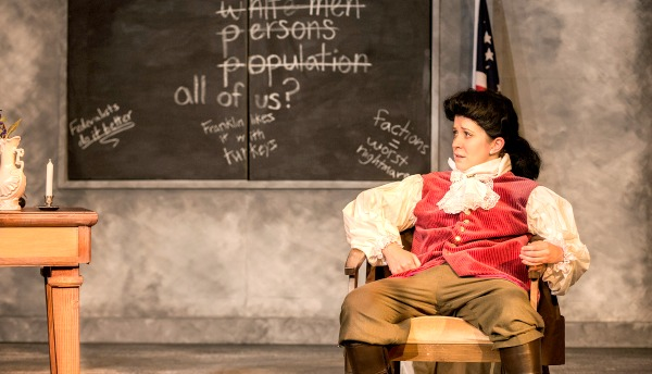 Kelly Criss as Founding Father James Madison. Photo: Jerry Siegel