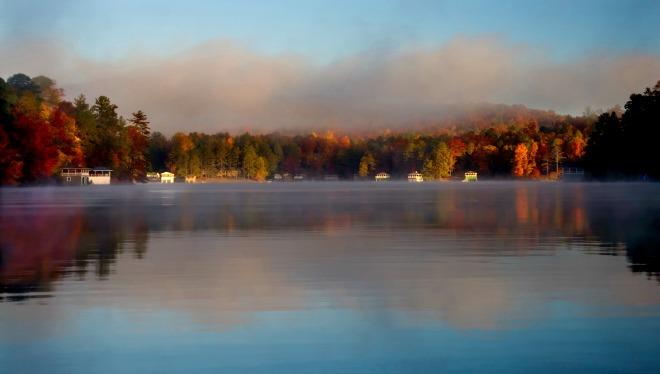 Early morning calm on Lake Rabun, about two hours northwest of metro Atlanta. Photo: Peter McIntosh