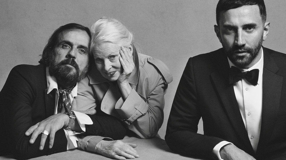 Andreas Kronthaler, Vivienne Westwood and Riccardo Tisci