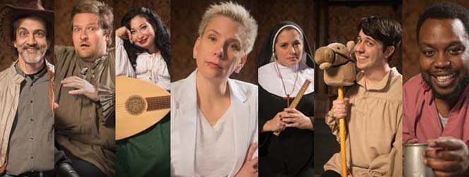 "The cast of ""Canterbury Tales."" Photo: Shakespeare Tavern Playhouse"