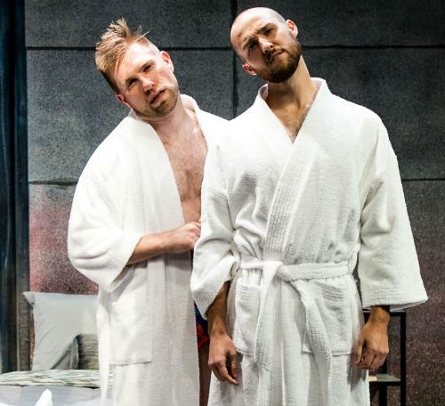 Joe Sykes (left), Michael Vine. Photo: Casey Gardner