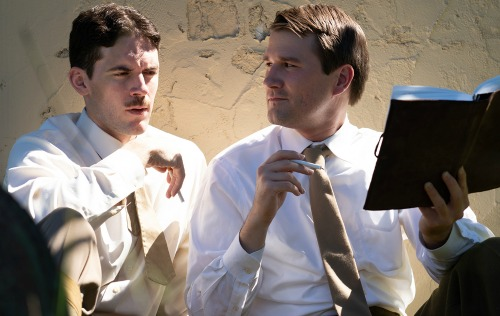 Chris Harding (left), Eric Lang. Photo: Marcus Geduld