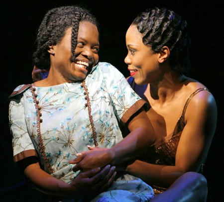 "LaChanze and Elisabeth Withers-Mendes (as Celie and Shug Avery) in the original Broadway production of ""The Color Purple."" Photo: Paul Kolnik"