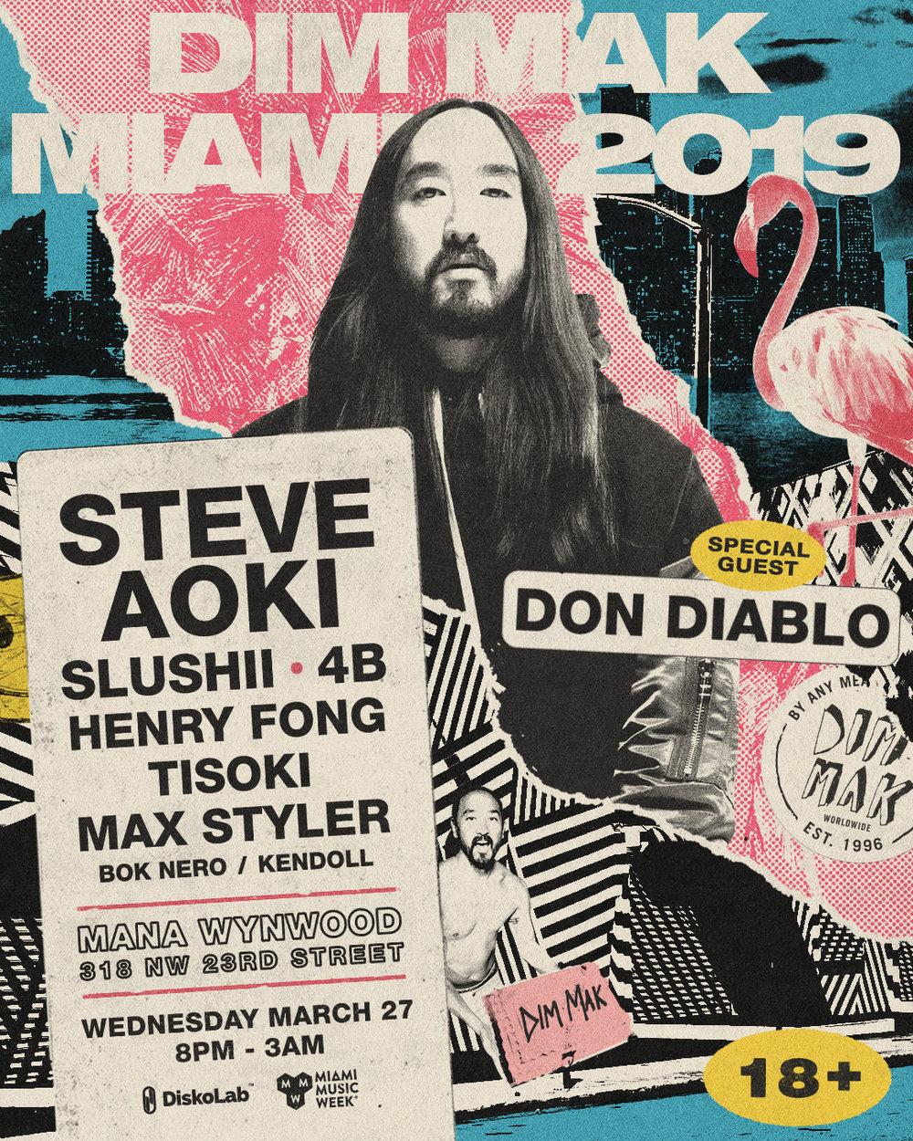 DimMak Miami 2019 steve aoki